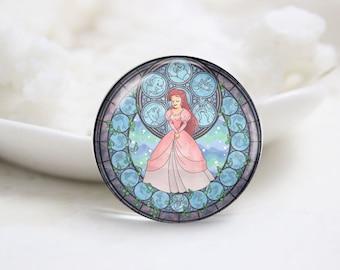 Handmade Round Photo Glass Cabochons (P3525)