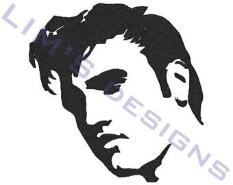 "Elvis machine embroidery design- 3 sizes 4x4"", 5x7"", 6x10"""