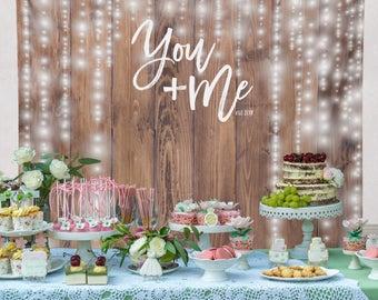 Elegant Rustic Wedding, Wood Backdrop, Custom Tapestry, Dessert Table Tapestry, Wedding Backdrop, Step and Repeat // W-G27-TP REG1 AA3