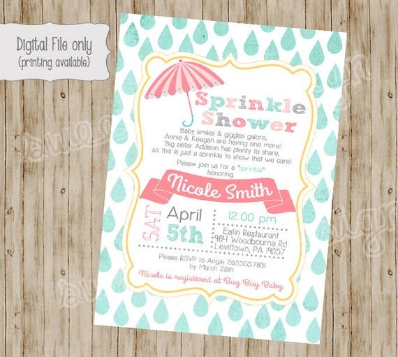 Baby-Dusche Einladung Babyparty besprühen Einladung