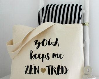 Yoga Keeps Me Zentred   Yoga Gym Bag   Yoga Bag   Yoga Gift   Yoga Lovers Gift   Funny Yoga Gift