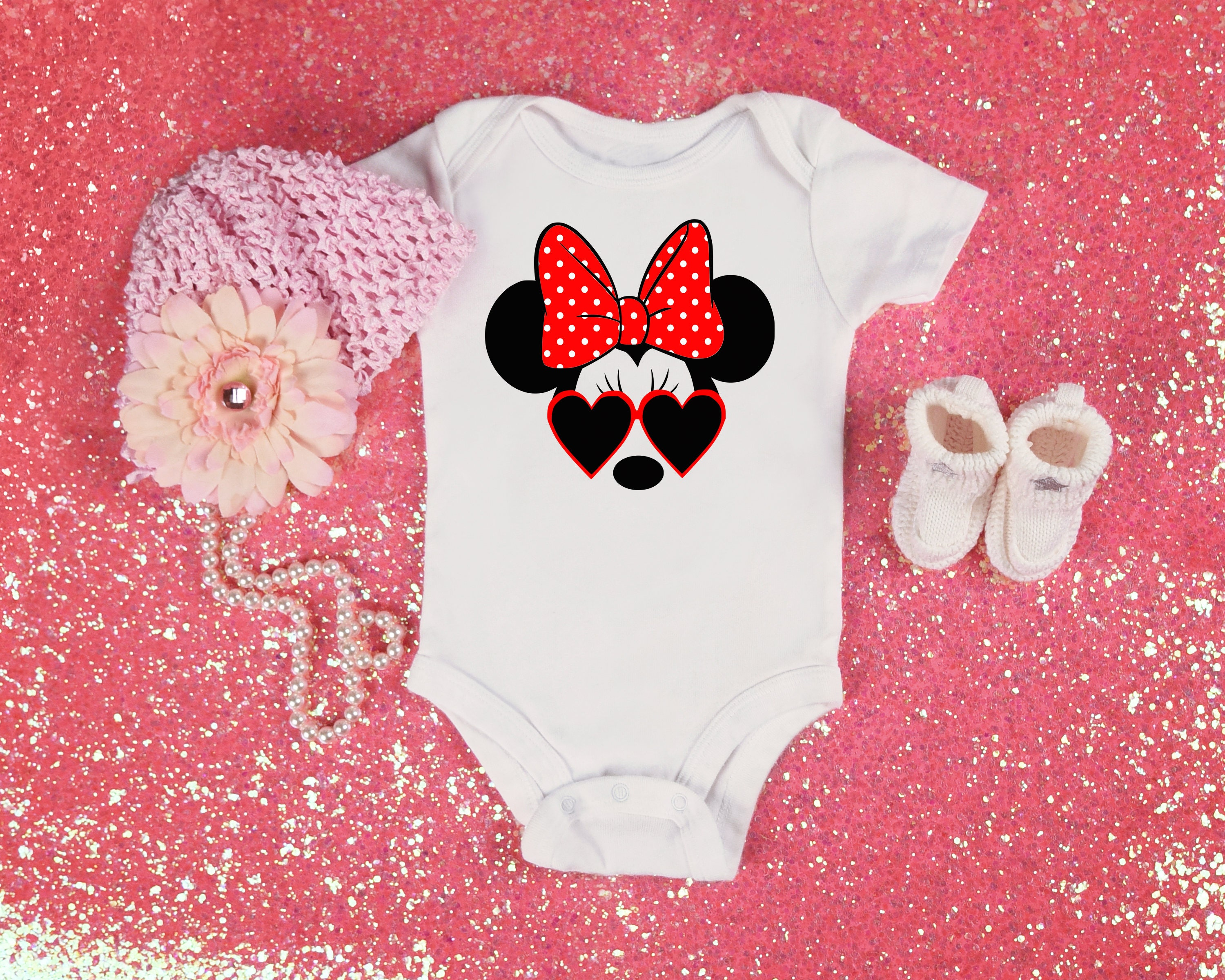 Minnie mouse baby onesie funny graphic kids shirt baby girl