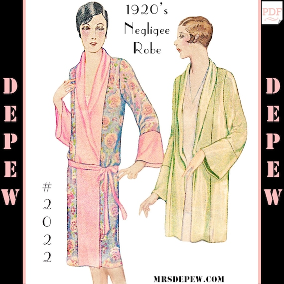 Vintage Sewing Pattern Reproduction 1920\'s Kimono Negligee