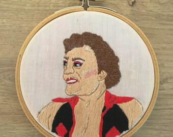 Cassandro luchador embroidery