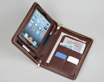 iPad Mini Portfolio Purse case with notepad holder and iPad Mini Pocket for iPad Mini 4 and iPad mini with Retina Display Carrying
