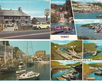 Cornish Postcards (28) circa 1976. Jamaica Inn, Tintagel, Fowey and more.