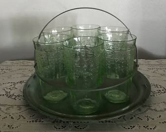 Antique 6 Glass Holder
