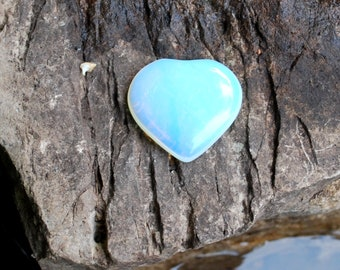 Opalite Heart Crystal Stone (Beautifully Gift Wrapped)