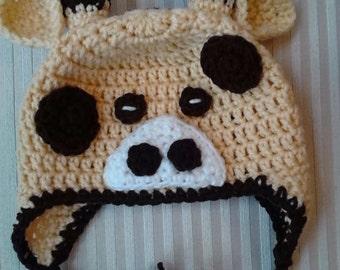 Crocheted Giraffe Hat / Animal Hat