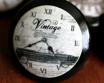 Vintage Knobs Time to Drive Door Pull