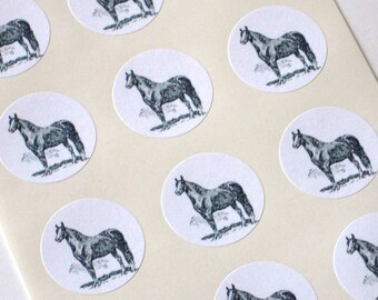 Horse Stickers - One Inch Round Seals