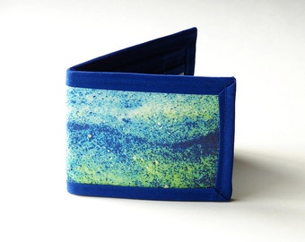Vegan Friendly Billfold Wallet - Lines In The Sand // Photo Fabric Collection