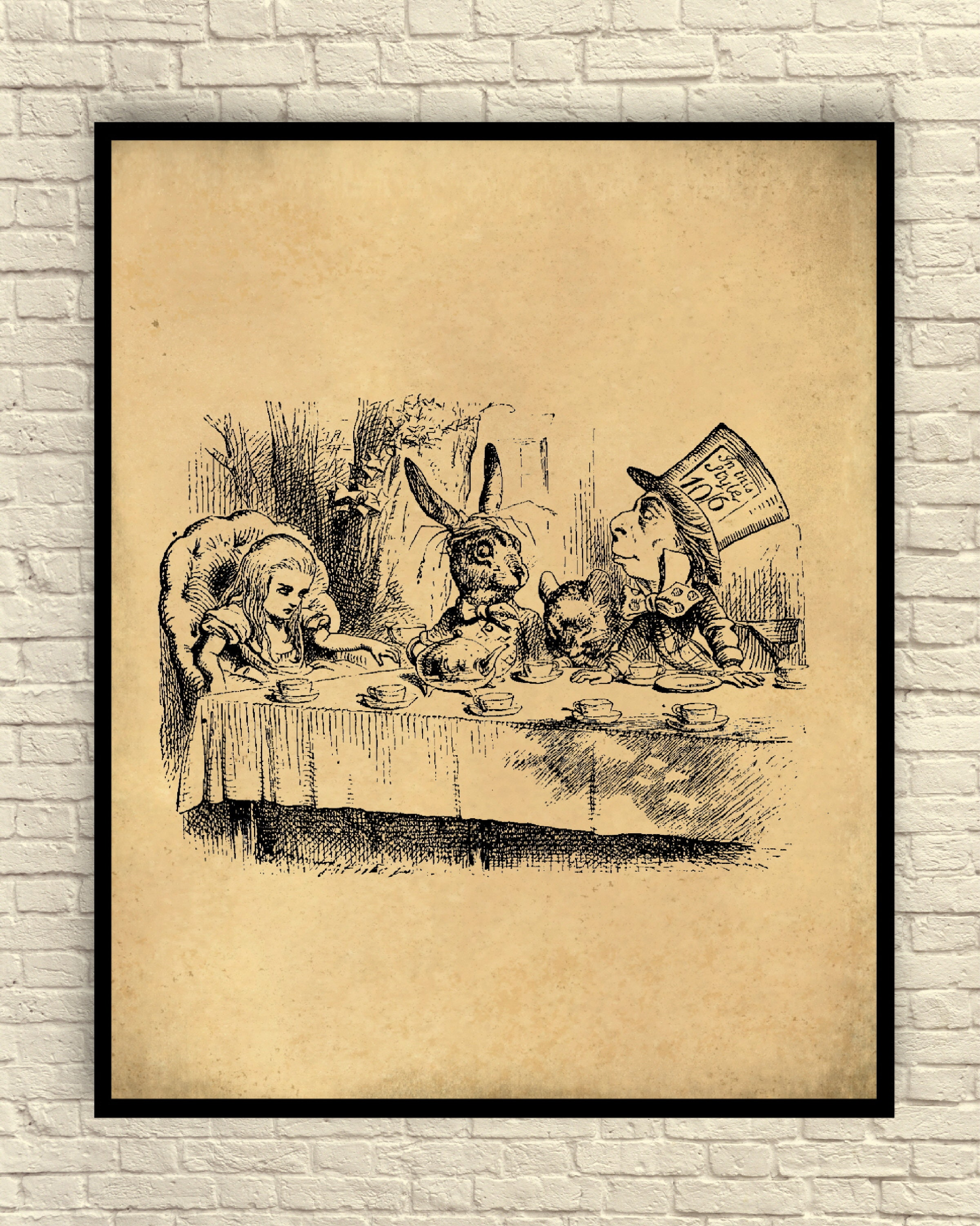 Wall Art Alice in Wonderland Art Print Alice in Wonderland