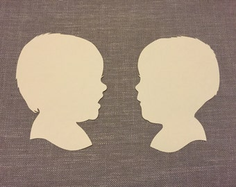 THREE Hand Cut Paper Silhouettes