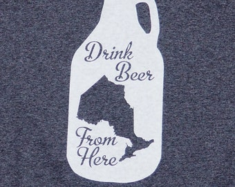 Drink Beer From Ontario t-shirt - Heather Charcoal