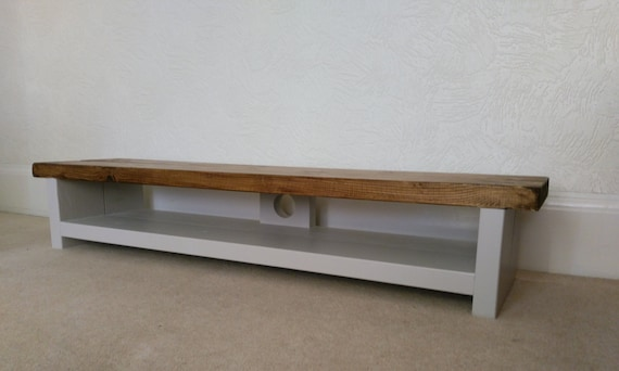 Tv Stand Very Low Height Rustic Pine Plasma Lcd Tv Unit Table