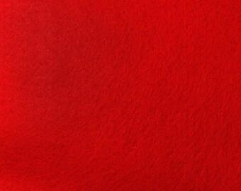 Red Felt Fabric - by the yard