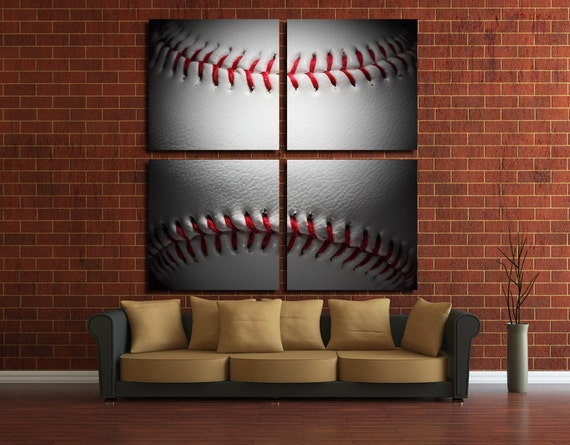 Baseball Wall Art Baseball Wall Decor Baseball Canvas Baseball