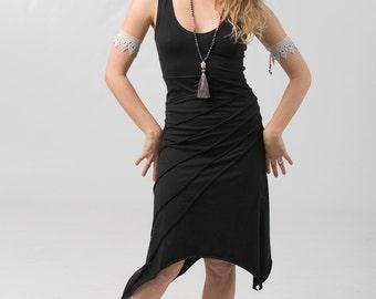 Sunburst Knee Length Dress - every day summer dress - women clothing - Dresses
