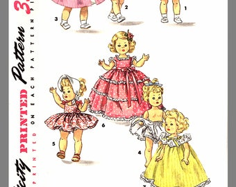 """PDF: Vintage Doll Clothes Suitable For Alexander -Kins Ginny Muffie  Fabric material Sewing  Pattern Size 8"""" # 1372 Instant Download"""