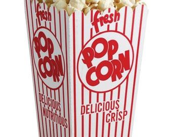 Retro Popcorn Box. Circus popcorn boxes. Carnival party supplies. Circus party supplies. Concession supplies. Popcorn bags. Popcorncontainer
