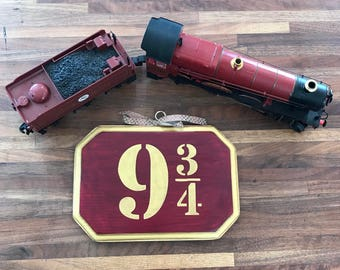 Platform 9 3/4 sign//9 3/4 sign//Harry Potter Gift