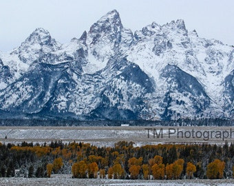 Grand Tetons - Grand Teton National Park - First Snow in the Tetons - Mountains - Teton National Park - Fine Art Photography