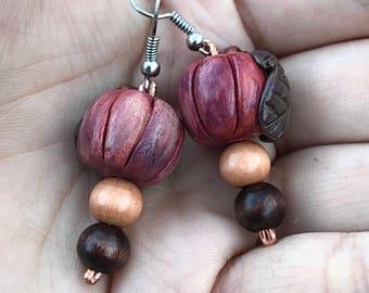 Pumpkin earrings, Halloween, Halloween earrings, Thanksgiving, Polymer clay earrings, Fall fashion, Pumpkin, Earrings