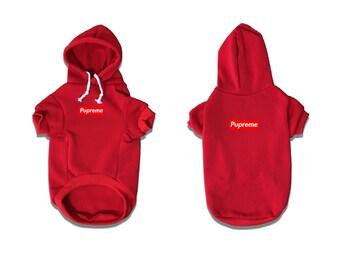 Pupreme Dog Hoodie RED|Dog Streetwear|Anti social puppy club|Streetwear for dogs|Streetwear dog hoodie|Pupreme|Hypebeast|Hypepets|Pawmain