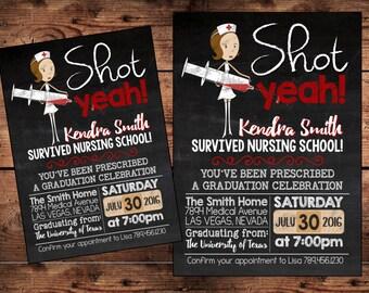 Nursing graduation invitation Etsy
