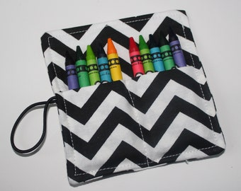 10 Count Chevron Crayon Roll, Party Favor, Party Supplies, Gift Basket, Party Favor, Wedding Favor, School Supplies, Daycare Supplies