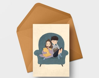 Note card - Couple & chilling night