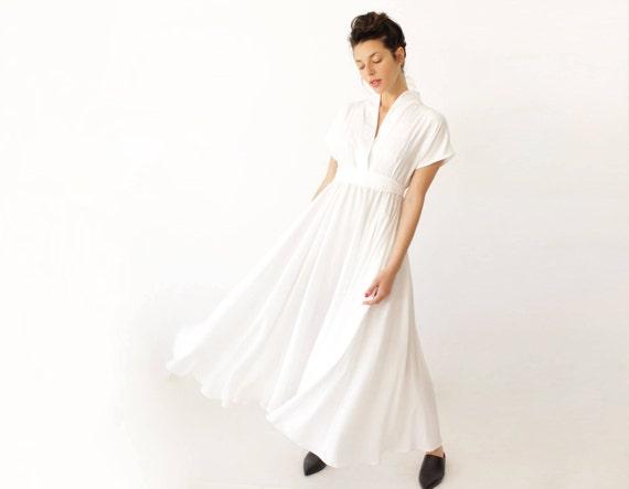 Unqiue Wedding Dress White Maxi Dress Long White Dress