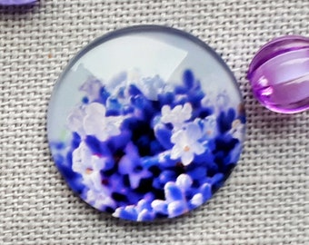 Lavender cabochon needle minder for cross stitching/embroidery