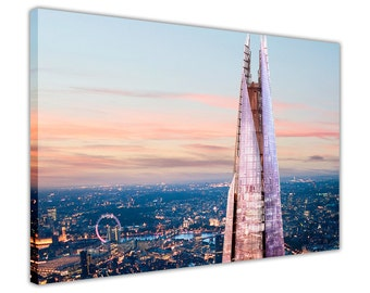 London Prints Shard Canvas Art Wall Art Pictures Home Decoration Photos Framed Poster City Images