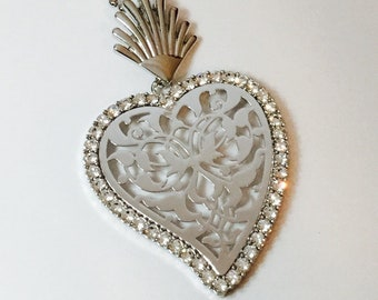 Colevel ex voto, Sacred Heart, Mexican Heart