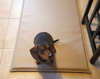 Crate Pad With Or Without 4 Grommets, Tie Down Dog Crate Dog Mat, Foam Padded Crate Mat Kennel Bed, 100% Waterproof, 16 Colors 24x36x1