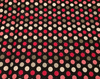 Baby burp cloth- Pink and Black Polka Dot with sparkles