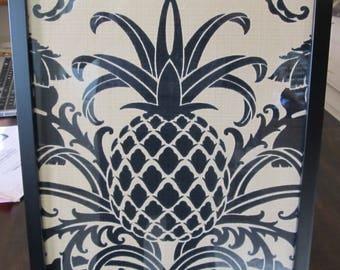 Tommy Bahama Framed pineapple fabric