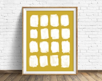 "abstract, wall art, art print, instant download printable art, large art, large wall art, minimalist, modern, yellow, art - ""Open Spaces"""