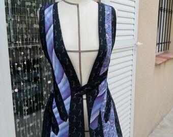 Cardigan 6 ties handmade (no machine)