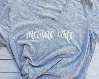 Custom Military Wife - Graphic Tee - Marine Army Navy Air Force Coast Guard National Guard