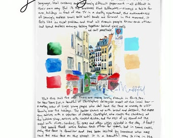 Rue Mouffetard: Paris Letters, January letter about this famous market street