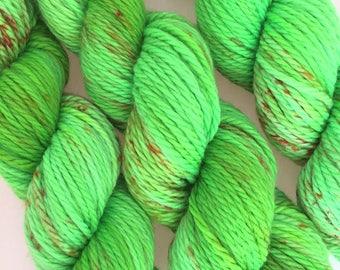 CHUNKY WEIGHT Yarn - Hand Dyed Superwash Merino Wool in Glow Worm