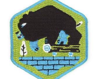 Rad Bear Iron On Patch
