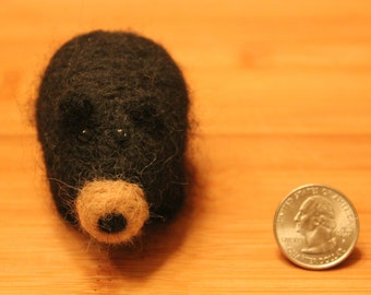 Felted Black Bear