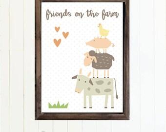 Friends on the Farm Nursery Decor