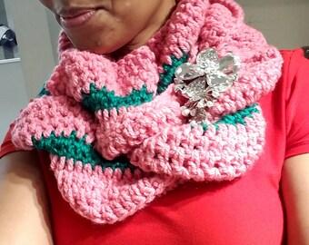 Ruffled Infinity scarf