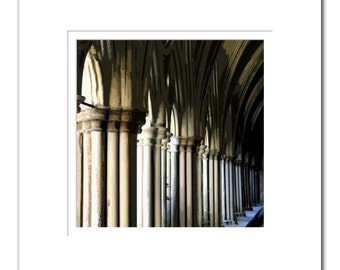 Framed Salisbury Cathederal Cloisters Print