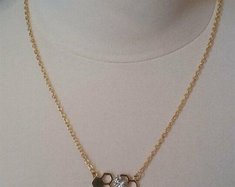Silver & Gold Steampunk Bumble Bee Necklace